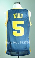 Free Shipping,#5 Jason Kidd College Basketball Jersey,Embroidery logos,Size S--3XL,Accept Mix Order