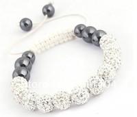Shamballa Bracelets Wholesale, free shipping, New Shamballa Bracelets crystal Micro Pave CZ Disco Ball Bead  FWD4857