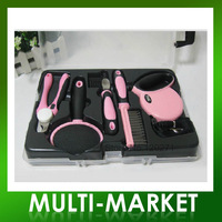 Free shipping/Pet supplies set dog Needle Kit + row of comb + nail clippers + traction rope + open knot knife+Paddle brush