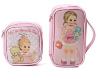 FREE SHIPPING Promotional Doll waterproof multifunctional Make Up Cosmetic bag for children 2013 hot -selling 2pcs/set