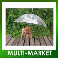 Free shipping/Pet umbrella dog umbrella pet raincoat Umbrella with Dog Leads Transparent pet umbrella