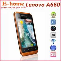Original Lenovo A660 Dustproof Waterproof Phone MTK6577 Android 4.0 4GB ROM+512MB RAM 3G GPS WIFI Phone Hot In Stock