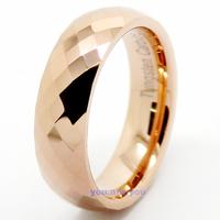 Tungsten Ring 18K Rose Gold Wedding Band 6mm Men's Women's Bridal Jewelry Size 8-12
