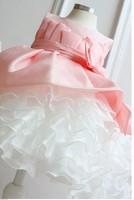 10 pcs/lot NEW Arrival 2013 children dress girls High-grade Princess dress chiffon Big bowknot dresse for summer