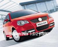 chrome for Volkswagen Polo 2005-2010 Led daytime running light lamp DRL fog lamp cover free shipping EMS,FedEx,DHL