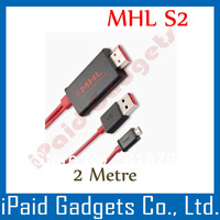 [ 50pcs l lot ] hot ! High Quality MHL to HDMI Cable Adapter for Samsung Galaxy S2