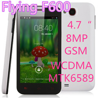 hot sell original Flying F600 MTK6589 quad core Android Phone 4.7 inch 1.2GHz 1GB RAM 3G WCDMA GPS  Dual Camera.pk lenovo p780