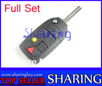%100 Free Shipping VOLVO S40 V40 S60 S80 XC60 XC90 5 BUTTON Flip Key Shell  Excellent Quality Lower Price