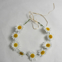 Party supplies  polyester  hawaiian flower head sunflower garland daisy garland