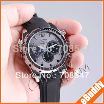 Built-in 8G  Free shipping Water Proof  FULL HD(1080P) IR Night Vision Watch Camera Memory card
