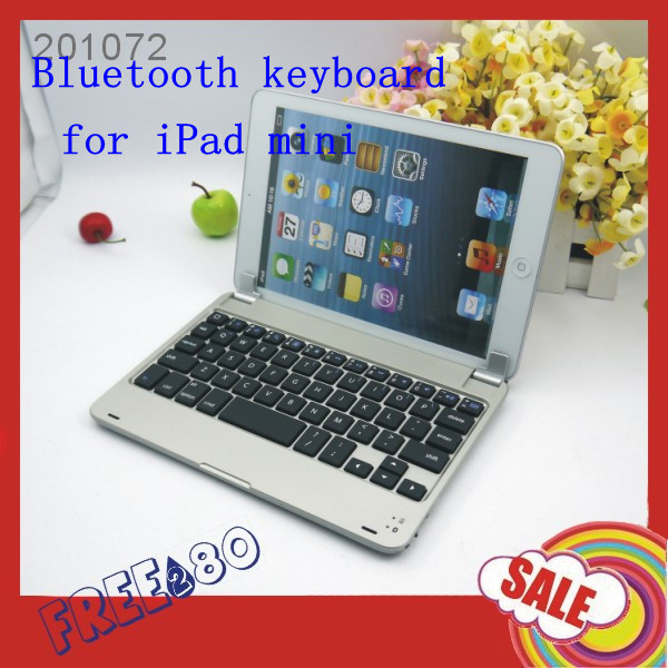 New Arrival ! M6 Super Thin Wireless Aluminum Bluetooth Keyboard for iPad Mini 7.9 inch wholesale 50pcs/lot Free Shipping(China (Mainland))