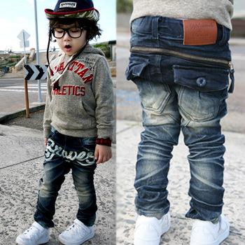 Retails 2014 NEW Spring&Autumn KK-Rabbit brand children pants baby boys/girls denim jeans cowboy designers jeans 4-9 years