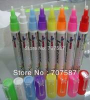 Free shipping  80pcs/lot 3mm Highlighter Fluorescent Liquid Chalk Marker Pen for LED Writing Board