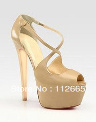 free shipping! top brand high heel platform leather shoes china shoe manufacturer(China (Mainland))