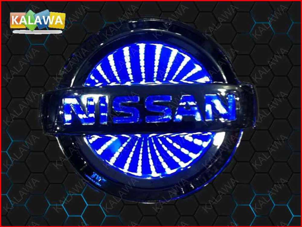 11.7cm*10cm BIG 3D car logo light LED emblem 3D laser car badge Replacement For NISSAN color blue G11 free shipping~GGG(China (Mainland))