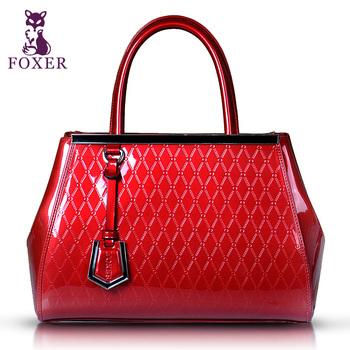 FOXER handbags women bags classic vintage women's leather zipper bag handbags designers brand tote bags women designer handbags