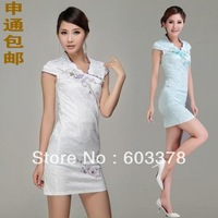 Free shipping New arrival 2013 summer fashion women's sexy qipao elegant cheongsam for evening & party dress 7130