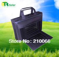 Freeshipping 6W 8800MAH Solar handbag equip solar panels Solar Bag, Solar Battery Charger For Phone, MP3/4, Digital Camera, PSP