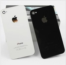 original Black white Glass Battery Cover Back replacement Housing for iPhone 4 4G,Free shipping(China (Mainland))
