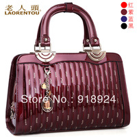 White collar 2013 crocodile women's paillette handbag bags cowhide handbag