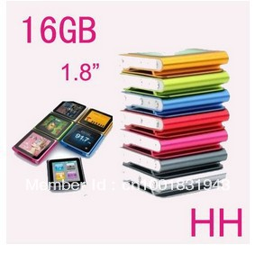 """New 16GB 1.8"""" TFT LCD 6th gen Clip Mp3 Mp4 player Music Video 7 colors & Free shipping"""