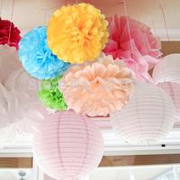 """Elegant 18"""" Tissue Paper Pom Poms,Ceremony Party Decor Decorative Flower Party Wedding Decoration,26colors for choice 10pcs"""