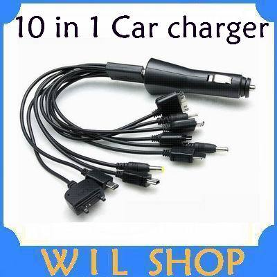 Cheap wholesale China factory black USB 10 in 1 Car Charger for mobile phones The world's bestselling(China (Mainland))