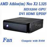 L325, 1G RAM,8G SSD, Fan,AMD Athlon(tm) Neo X2, Dual Core Processor 1.50GHz, HD3200 graphic, TDP 18W,Stronger than E450 htpc