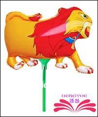 Grátis frete leão forma um balão de alumínio balão da folha dentro de 18 cm vara balão da folha dentro vara(China (Mainland))