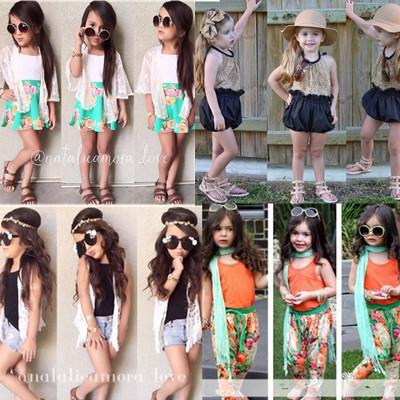 Girls' Sets baby girls Clothling Retail 1 PCS short sleeves Lace sets bear cartoon short T-shirt + short skirt pants 2pcs suit(China (Mainland))