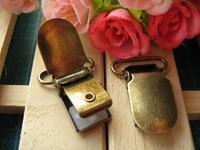 Hot selling!50 pcs/lot Clothing accessories belt accessories spare Braces Clip clip super strong high-grade silica clip, Bronze
