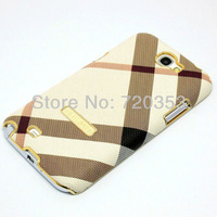 New arrival! New Luxury Chrome Diagonal Leather Case Cover For samsung galaxy note II 2 N7100  Free shipping (10 pieces/lot)