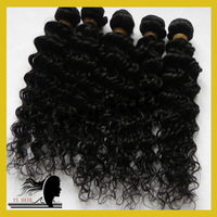 Mixed Length 3 Pcs Lot  Brazilian Virgin Hair Weft,Deep Wave Curly Hair Extensions,Queen Hair Product,Free Shipping