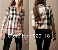 Free shipping  cotton lady's shirt , cotton women shirt Sweet Long sleeve women blouses 2013