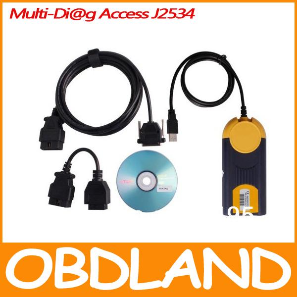 2014 High quality newest version Multi-Di@g MultiDiag Access J2534 Pass Multi Diag diagnostic tool Fast Lead Via DHL(China (Mainland))