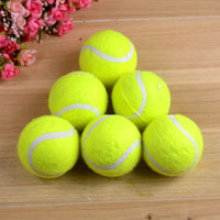 Free shipping 6.5cm diameter 56g pet dog cat toy green tennis ball 6pcs per lot(China (Mainland))