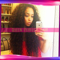 Fashion Curly ,Brazilian Virgin Remy hair ,front lace Wig&Full Lace Wig GLueless available,Bleached knots for black women