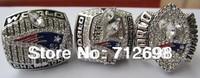 A Set NFL New England Patriots XXXVI XXXVIII XXXIX Super Bowl Championship Ring size 11 US best gift for Fans collection 3PCS