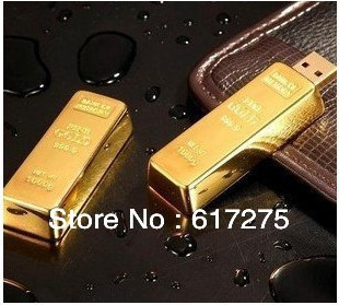 Free shipping, adequate simulation gold bars 4 gb, 8 gb real 16 gb and 32 gb flash drive usb 2.0 pen/car/gifts u disk/memory(China (Mainland))