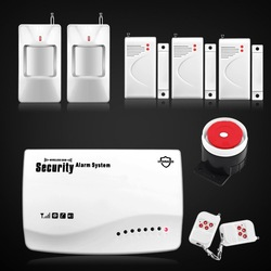 Free Shipping! 2013 New Smart Home Wireless GSM SMS Home Security Alarm System Auto Dialing, PIR Motion,Door Sensor,Lower Price(China (Mainland))