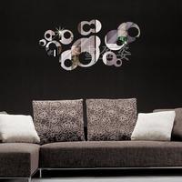 FREE SHIPPING Tyranids popular sofa tv mirror three-dimensional wall stickers mirror wall covering P035