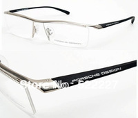 New Fashion Eyeglass Frames Luxury Car Brand Design TR90 P8189 Silver Color Free Shipping Wholesale