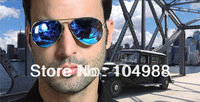 2013 Hot Sale Free shipping TOP GUN BLUE MIRROR LENSE AVIATOR MIRRORED SUNGLASSES SHADES BLUE LENSE SILVER FRAME
