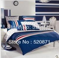 Discount DOHIA Fashion home textile set sports cotton stripe 100% slanting 4pcs set beddingcovers
