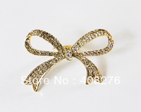 Min order 6$, sw2369 Free shipping,New Sweet Rhinestone Bow knot Double Finger rings,Fashion Jewelry Wholesale