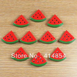 Wholesale 50pcs Summer Watermelon fruit Resin Cabochons Flatbacks Flat Back Girl Hair Bow Center Crafts Deco Embellishments #wm(China (Mainland))
