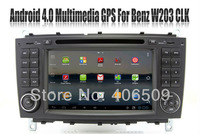 Android 4.0 Car DVD Player for Mercedes Benz C Class W203 CLK W209 with GPS Navigation Radio Bluetooth TV USB SWC Audio Stereo
