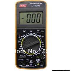 Genuine Fuke DT9201 Digital Multimeter can measure AC and DC current / voltage sensing resistor capacitance meter(China (Mainland))