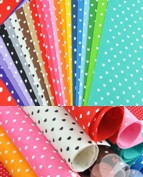 Felt Fabric cute HEART dot Printed 20 MIX Color multi Polyester DIY non-woven 30CM X 30CM free shipping ONLY $17.99/lot