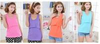 5s maternity nursing cotton 100%  slub  vest all-match basic  spaghetti strap breast feeding clothing month top 4 color